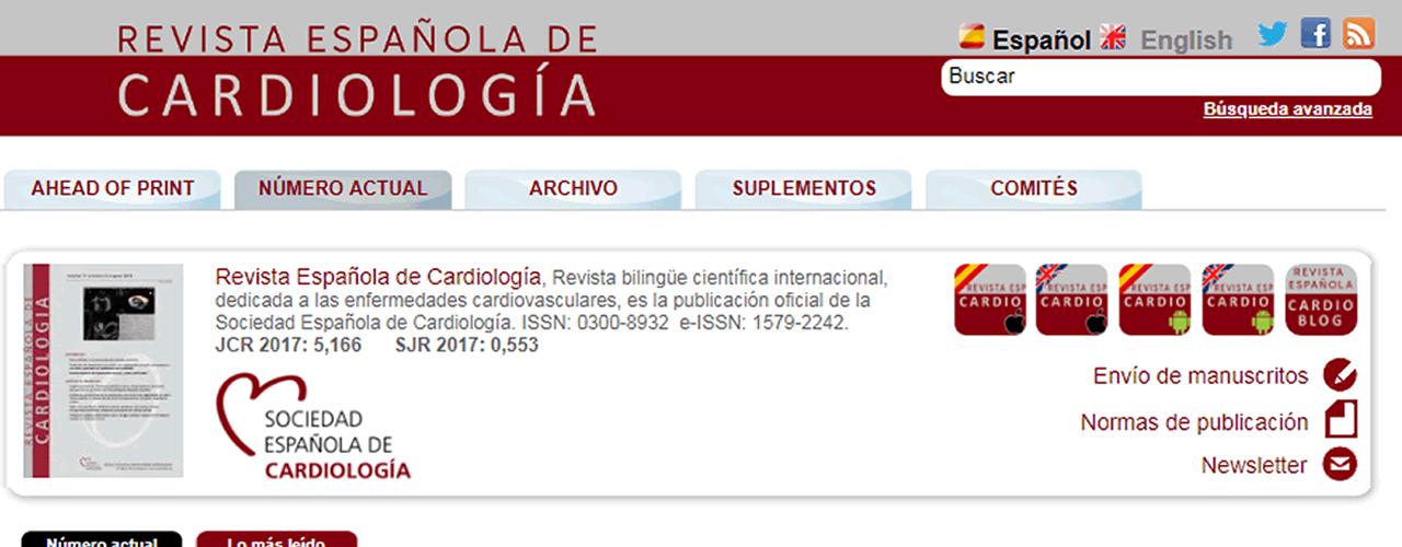 Revista española de cardiología.